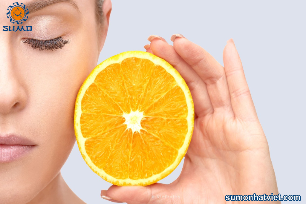 Thường xuyên dùng cam sẽ có làn da khỏe đẹp