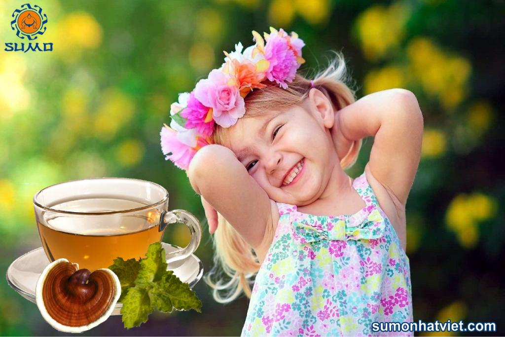 Nấm linh chi trẻ em uống được không