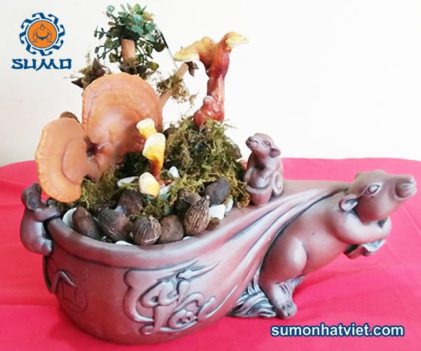 bonsai thảo mộc thơm hình chuột