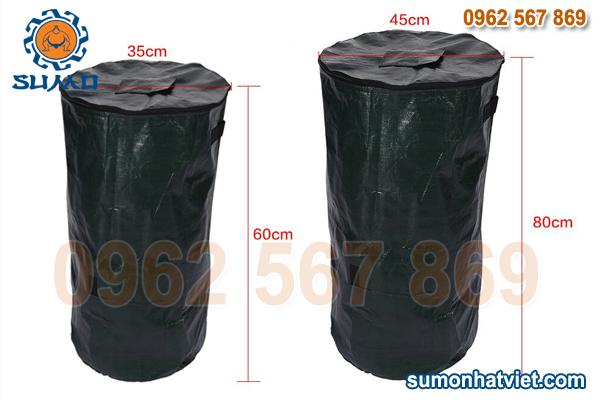 cấu tạo túi ủ rác hữu cơ