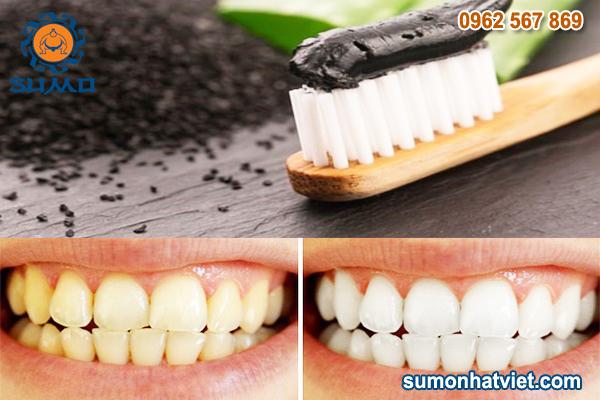Than hoạt tính làm trắng sáng răng