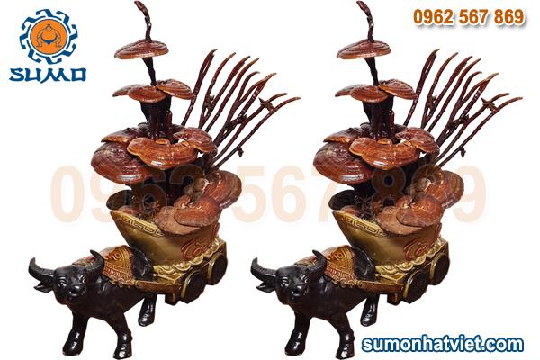 Bonsai linh chi hình Trâu