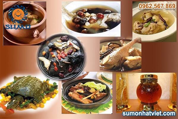 Đông trùng hạ thảo được dùng như gia vị trong chế biến món ăn
